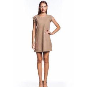 Joie Aloisa Leather Dress Camel Shift Suede